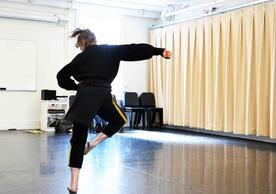 Vicky Shick dances in the studio
